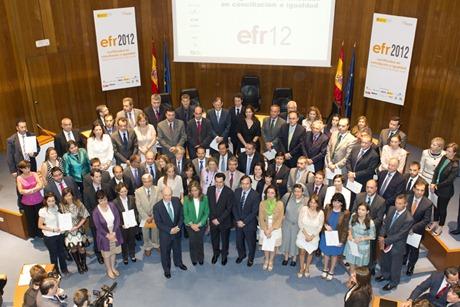 ACTO DE ENTREGA DE LOS CERTIFICADOS EFR 2012